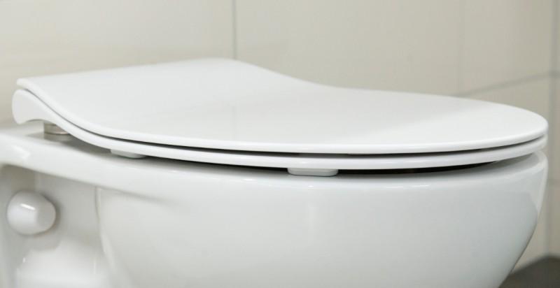 Siège wc de remplacement plat pour wc suspendus standard – Bild 2