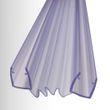 Duschdichtung für Falttüre - Ziehharmonikaprofil - für BERNSTEIN Duschkabinen DX213, EX213 -  Glasstärke 8 mm 001
