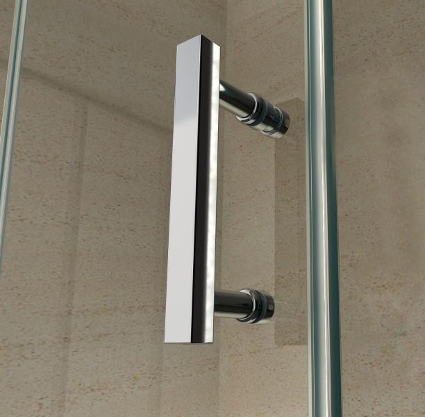 Paroi de douche fixe et porte coulissante verre véritable Nano 8mm EX802- 90 x 100 x 195cm    – Bild 7