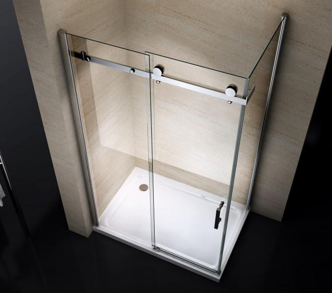 Duschkabine NANO 8mm Echtglas EX802 Schiebetür - 90 x 100 x 195 cm – Bild 2