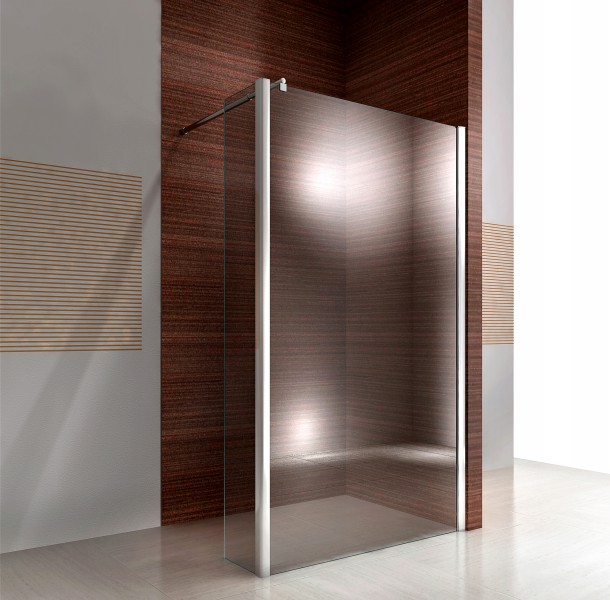 Fixed retun paner for Walk-In shower - Tempered glass Nano EX106 - Clear glass - 30x200cm – Bild 1