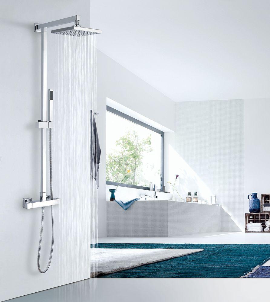 Design shower column 8921C - thermostatic shower panel - square shower head optional – Bild 1