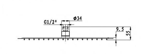 Système de douche combiné thermostatique SEDAL 8921C BASIC – Bild 9