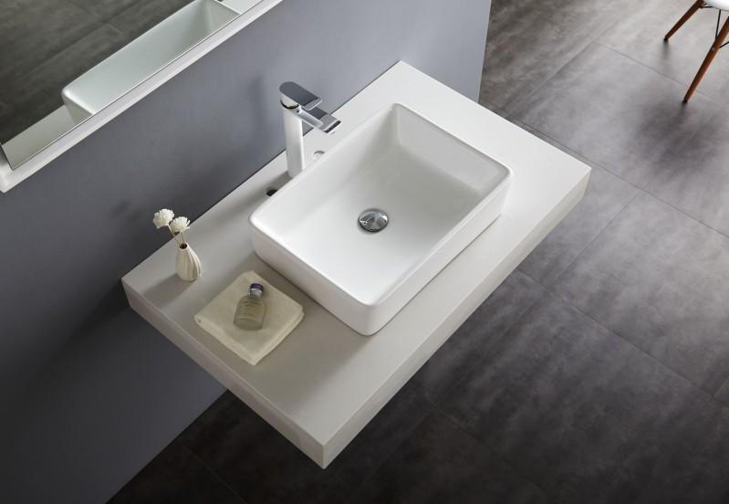 Aufsatzbecken Aufsatz-Waschbecken NT3153 - Badkeramik - 52x38cm – Bild 3