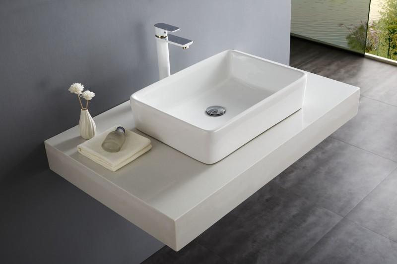 Aufsatzbecken Aufsatz-Waschbecken NT3153 - Badkeramik - 52x38cm – Bild 1