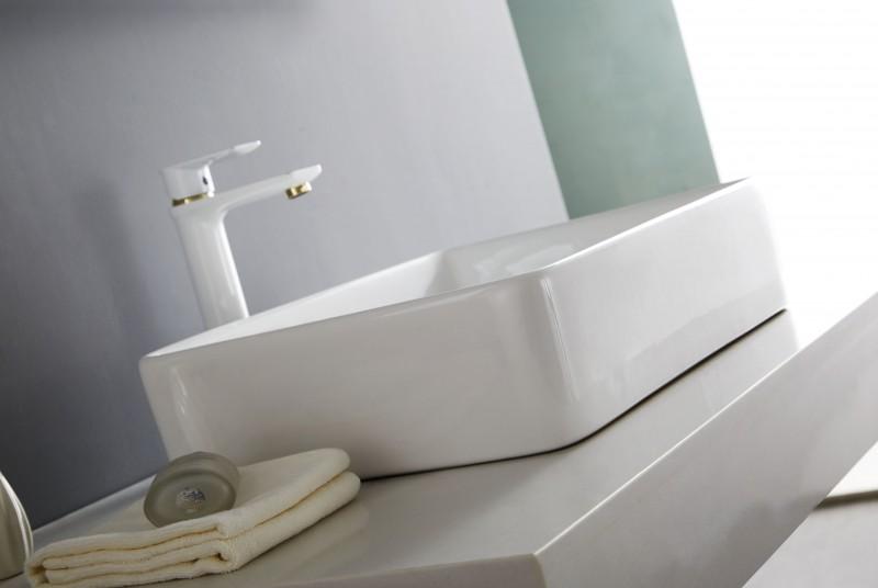 Aufsatzbecken Aufsatz-Waschbecken NT3153 - Badkeramik - 52x38cm – Bild 6