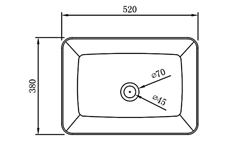 Aufsatzbecken Aufsatz-Waschbecken NT3153 - Badkeramik - 52x38cm – Bild 7