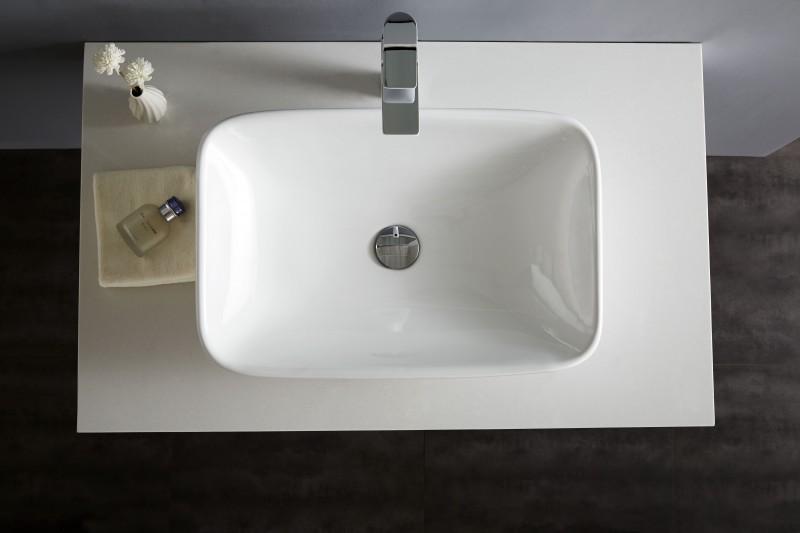 Aufsatzbecken Aufsatz-Waschbecken NT3155 - Badkeramik - 58x38,5cm – Bild 6