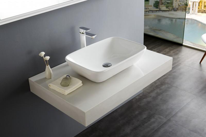 Aufsatzbecken Aufsatz-Waschbecken NT3155 - Badkeramik - 58x38,5cm – Bild 1