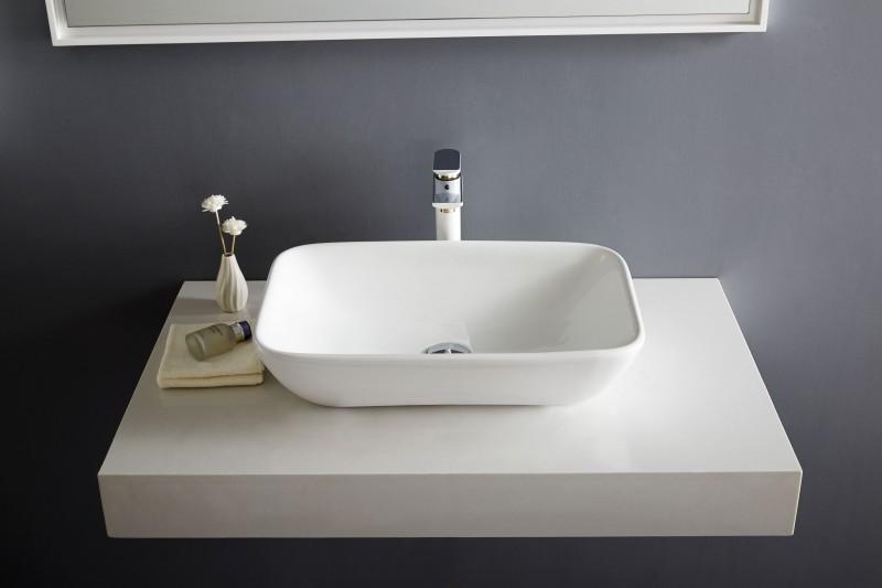 Aufsatzbecken Aufsatz-Waschbecken NT3155 - Badkeramik - 58x38,5cm – Bild 4