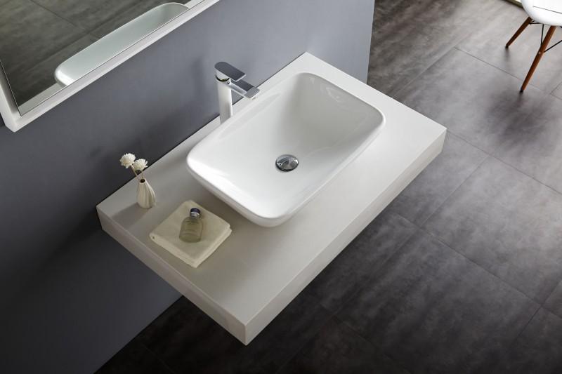 Aufsatzbecken Aufsatz-Waschbecken NT3155 - Badkeramik - 58x38,5cm – Bild 5