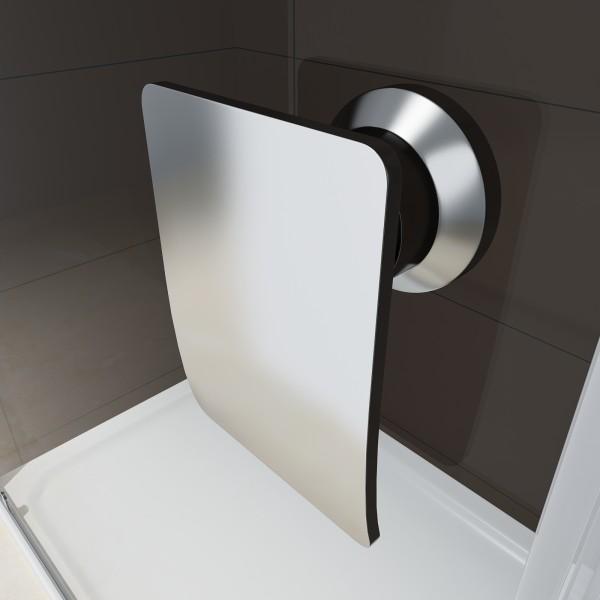 Duschabtrennung Schiebetür NANO Echtglas EX505 - Klarglas - Höhe 195cm - Breite wählbar – Bild 3