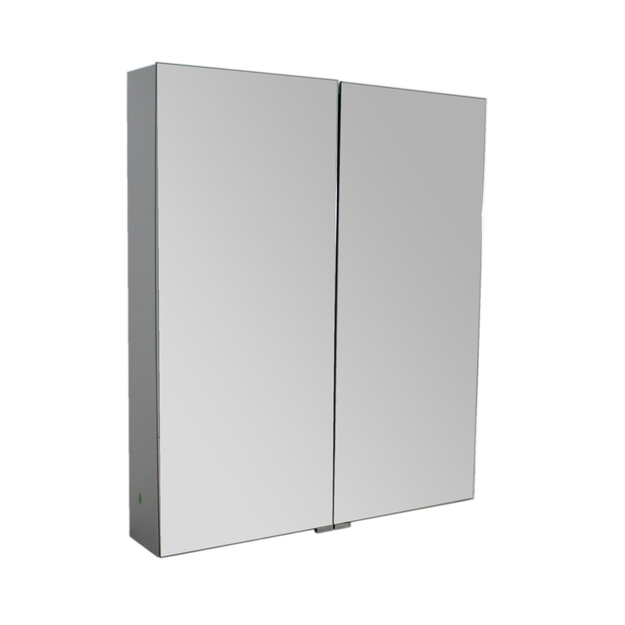Aluminium Spiegelschrank G600 2 Turig Innen Und Aussen