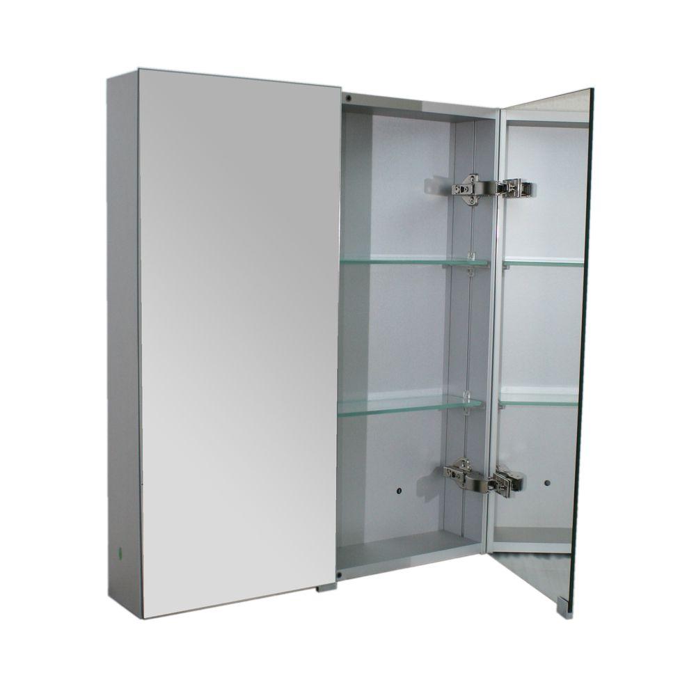 Aluminium-Spiegelschrank G600 2-türig - innen und außen Spiegel - 60 x 70,3 x 12,6 cm – Bild 2