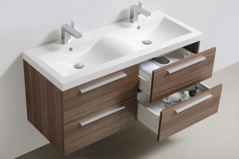 Bathroom Furniture Set R1600 - colour and accessories are selectable - dark walnut – Bild 3