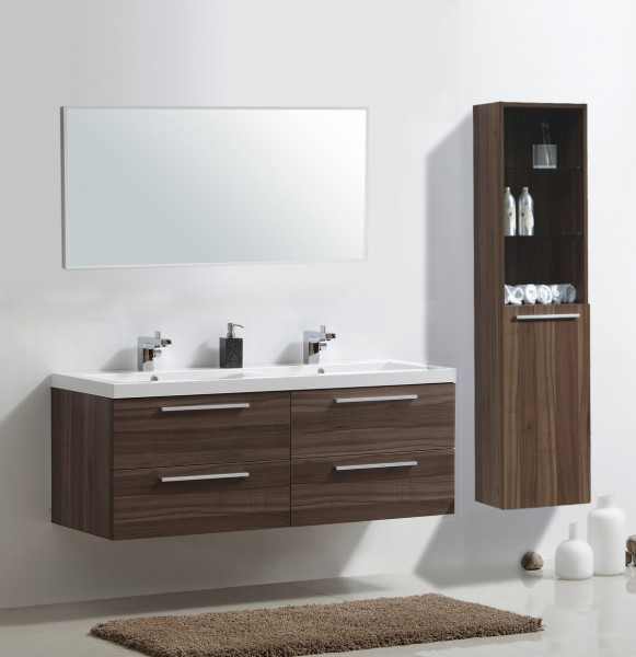 Bathroom Furniture Set R1600 - colour and accessories are selectable - dark walnut – Bild 2