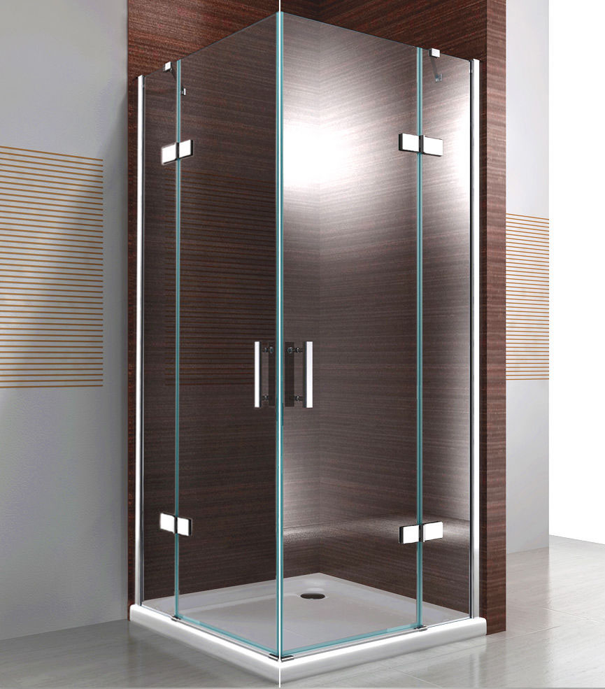Shower cabin corner from 8mm thick tempered safety glass NANO transparent DX407 - width selectable  – Bild 1