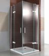 Shower cabin corner from 8mm thick tempered safety glass NANO transparent DX407 - width selectable