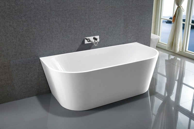 Freestanding Bathtub NOVA white - made of sanitary acrylic - 170 x 80 cm – Bild 1