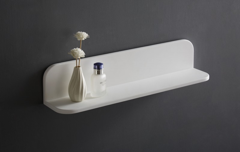 Wall shelf for bathroom PB4201 - mineral casting - 60x12x12 cm – Bild 1
