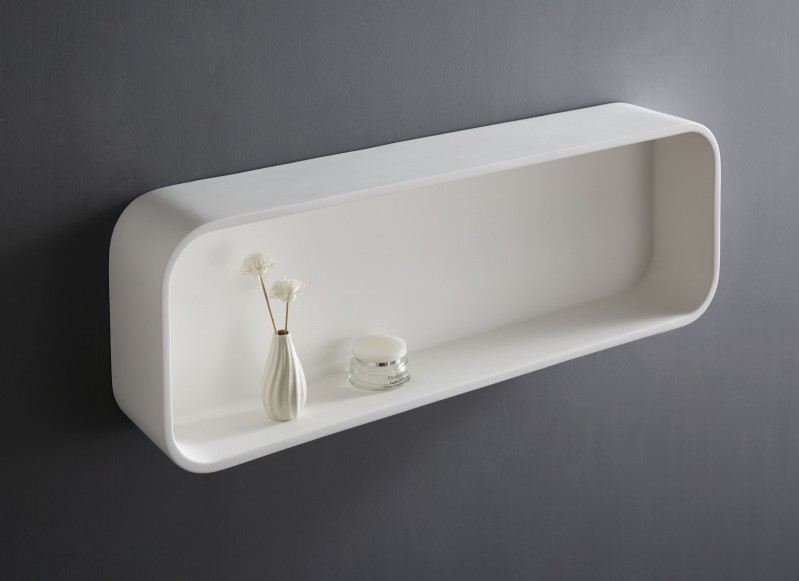 Wall shelf for bathrooms made of mineral cast PB4204 - 90x15x30 cm – Bild 2
