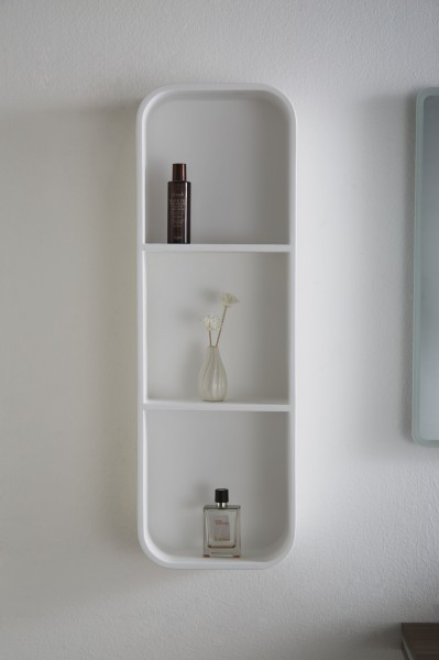Bathroom wall shelf PB4206 - mineral cast - 30x15x90 cm