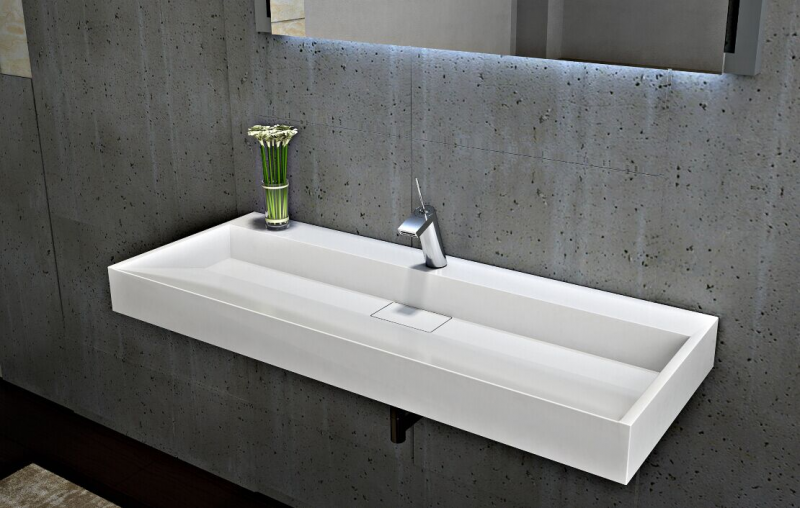 Wall Mounted Or Countertop Washbasin Bs6001 Cast Marble