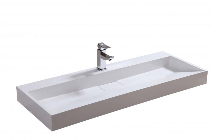 Wandwaschbecken Aufsatzwaschbecken BS6001 - Breite wählbar – Bild 2