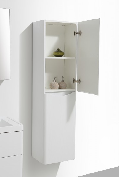 Wall-hung bathroom furniture SMILE 600 - white lily - mirror, mirror cabinet and wall cabinet optional – Bild 8