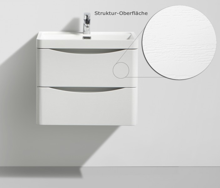 Wall-hung bathroom furniture SMILE 600 - white lily - mirror, mirror cabinet and wall cabinet optional – Bild 2