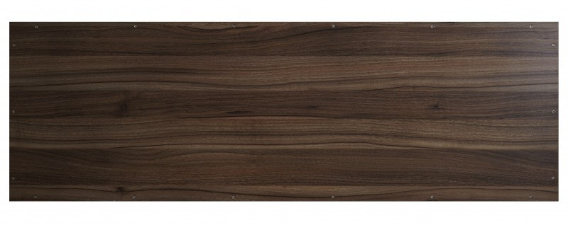 Wall-hung countertop SMART-Line - made from MFC - brown - with optional brackets – Bild 4