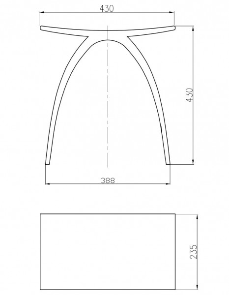 Tabouret de douche PB4001 en fonte minérale - blanc mat  – Bild 6