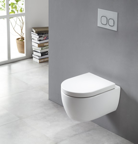 Hung flangeless WC washdown model NANO NT2039 - soft close seat included – Bild 2