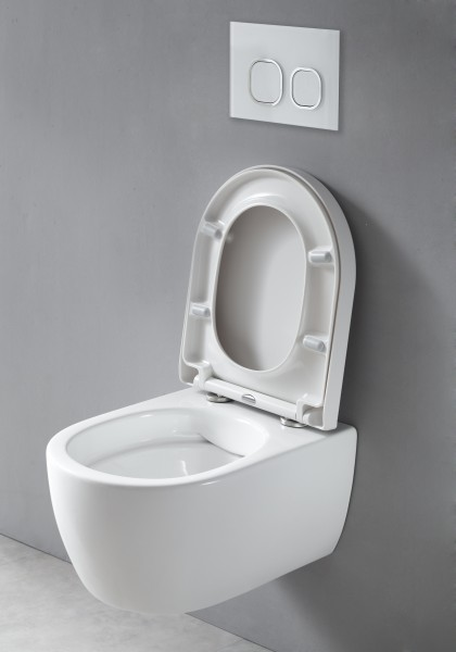 Hung flangeless WC washdown model NANO NT2039 - soft close seat included – Bild 5