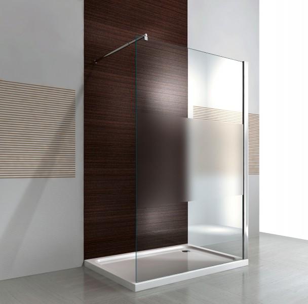 Duschabtrennung walk in dusche ex101 8mm nano echtglas for Dusche dachgeschoss