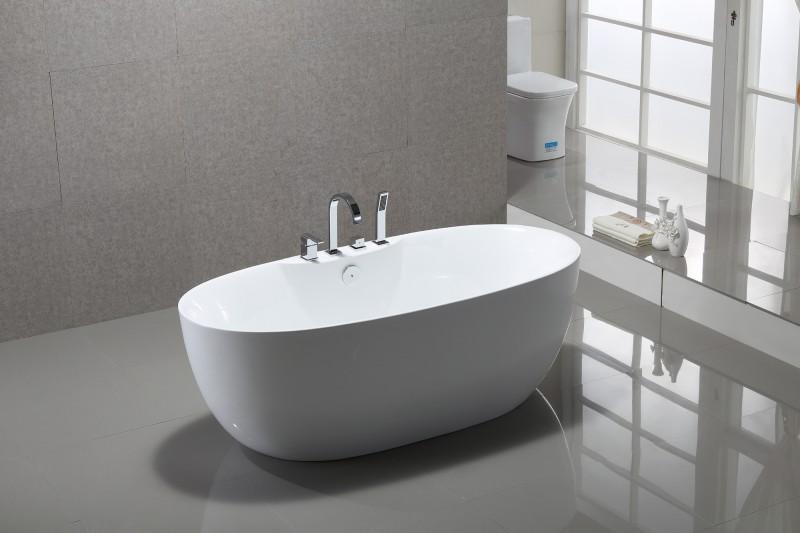 Freistehende Badewanne ROMA PLUS Acryl weiß - 170 x 80 cm  – Bild 2