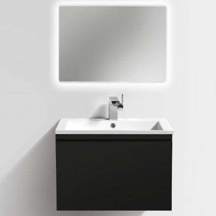 Bathroom Furniture Set Y600 - glossy black - mirrors and mirror cabinets available as optional items – Bild 2