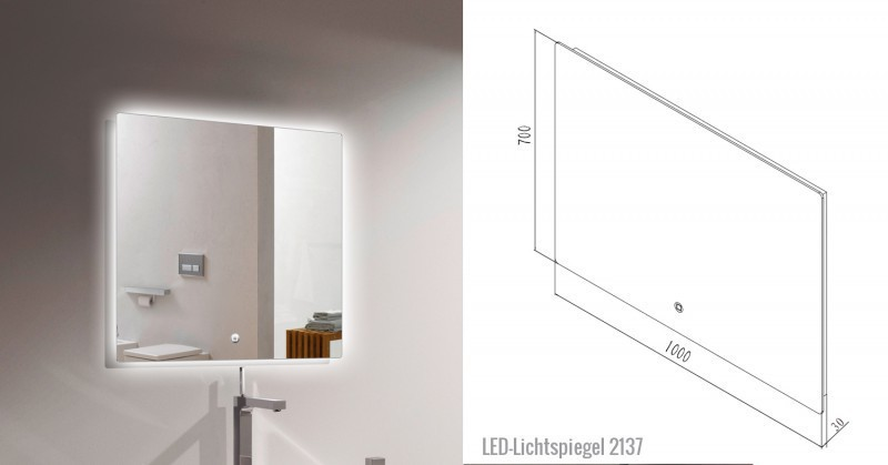 Bathroom Furniture Set Y1000 - glossy black - Mirrors and Mirror cabinets available as optional items – Bild 6