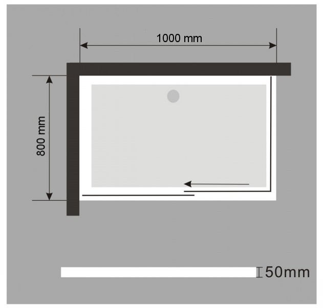 Rectangular shower tray - 100 x 80 cm - including waste fittings – Bild 4