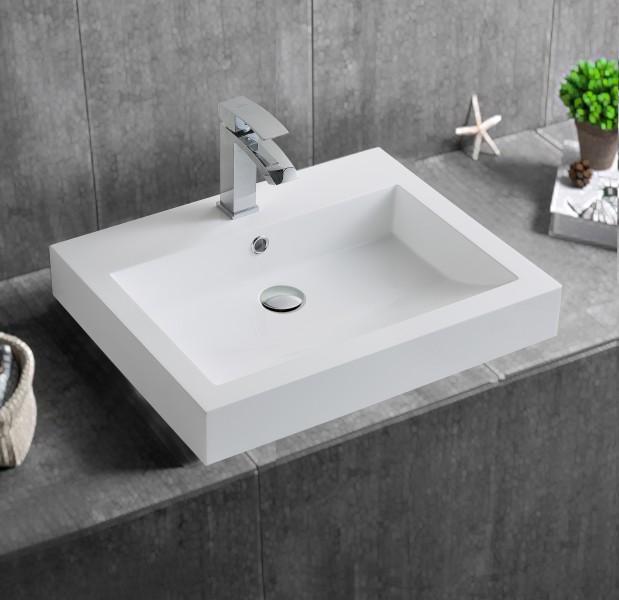 Wandwaschbecken Aufsatzwaschbecken BS6049 60 x 48 x 14cm