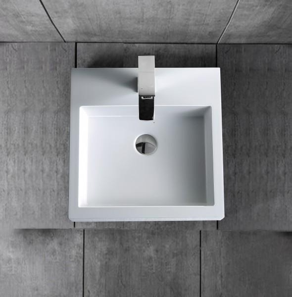 Wandwaschbecken Aufsatzwaschbecken BS6050 45 x 45 x 12,5cm – Bild 4