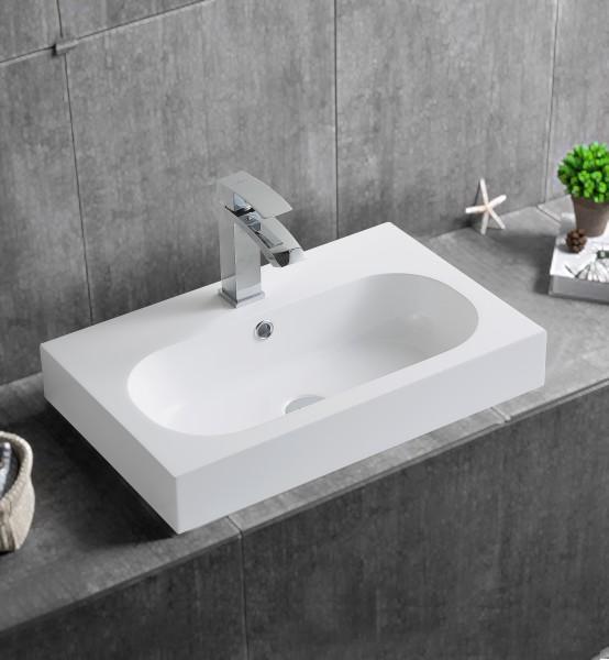 Wandwaschbecken Aufsatzwaschbecken BS6051 59 x 37 x 14,5cm
