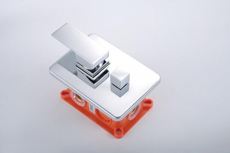 Unterputz-Duschsäule XX1520C - inkl. Regendusche aus Edelstahl & Unterputz-Grundkörper – Bild 5