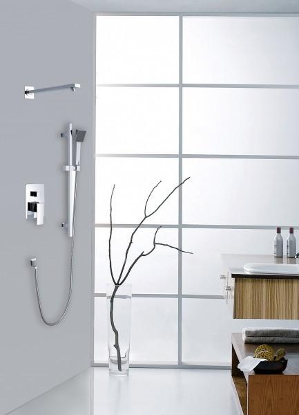 Unterputz-Duschsäule XX1520C - inkl. Regendusche aus Edelstahl & Unterputz-Grundkörper – Bild 1