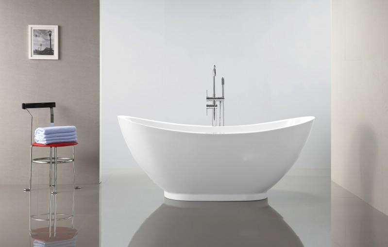 Vasca Da Bagno Freestanding In Acrilico : Vasca da bagno freestanding valenzia bianco rubinetti a scelta