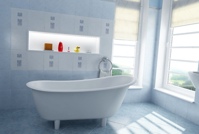 Freestanding Bathtub PURE white - made of mineral cast (solid stone) - 180 x 85 cm – Bild 5
