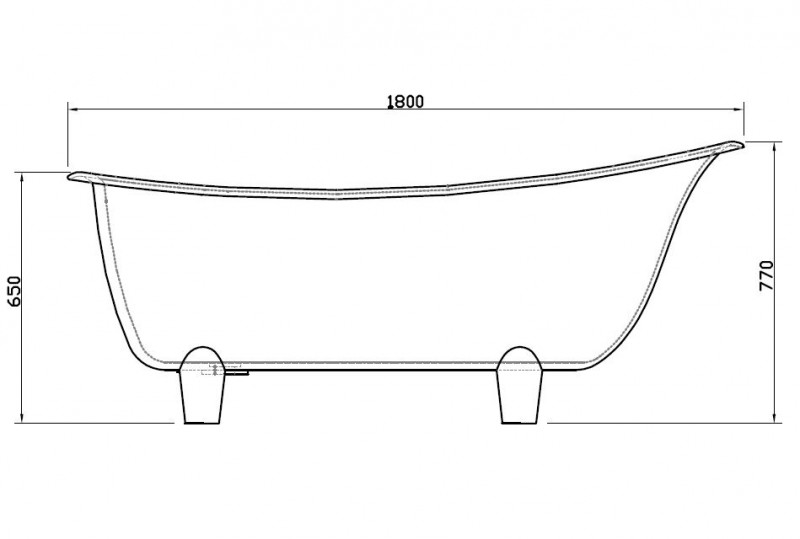 Freestanding Bathtub PURE white - made of mineral cast (solid stone) - 180 x 85 cm – Bild 6