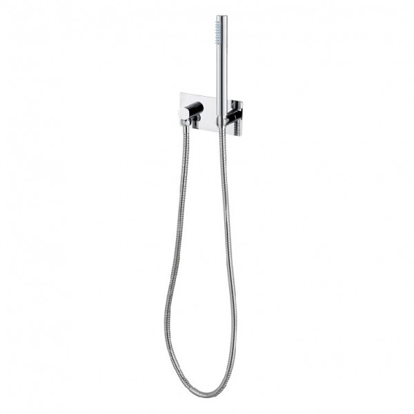 Hand shower holder and supply CZT050B - Included hand shower and hose – Bild 1