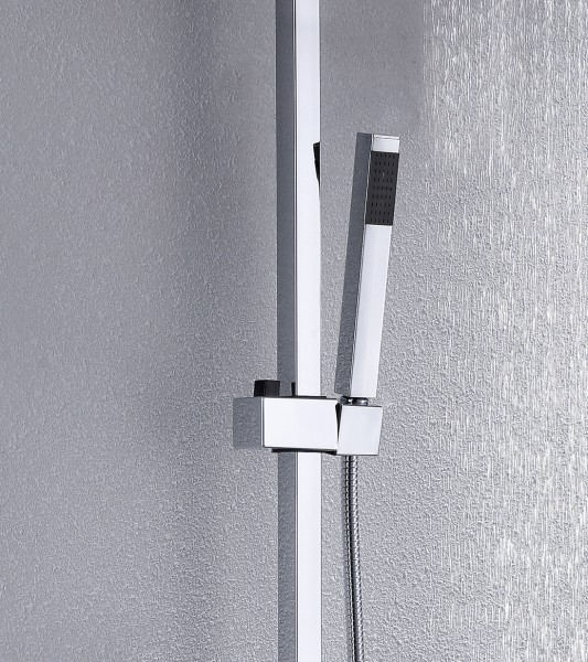 Design-Duschsystem Duschsäule Thermostat 8821C Basic - Auswahl Duschkopf eckig – Bild 2