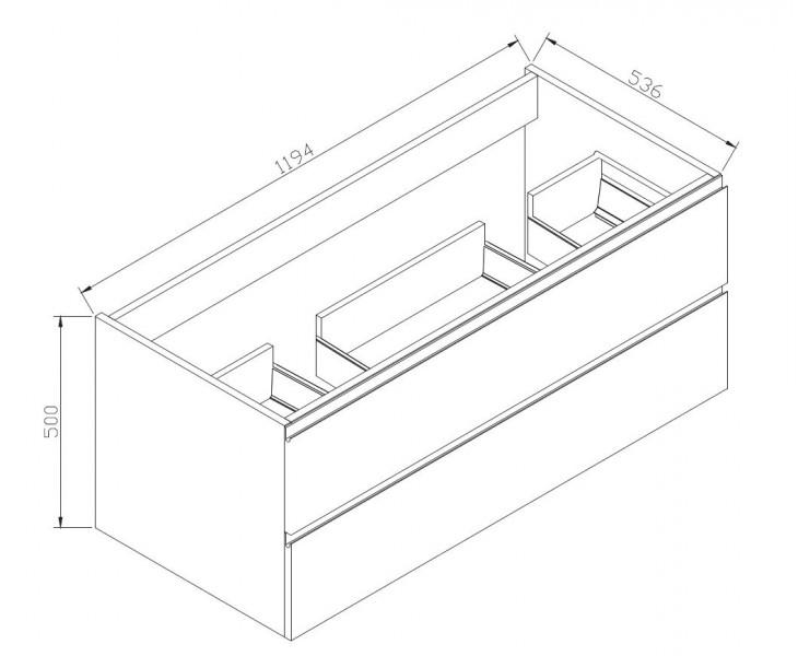 Badmöbel-Set LUXX 1200 Schwarz - Spiegel optional wählbar – Bild 3